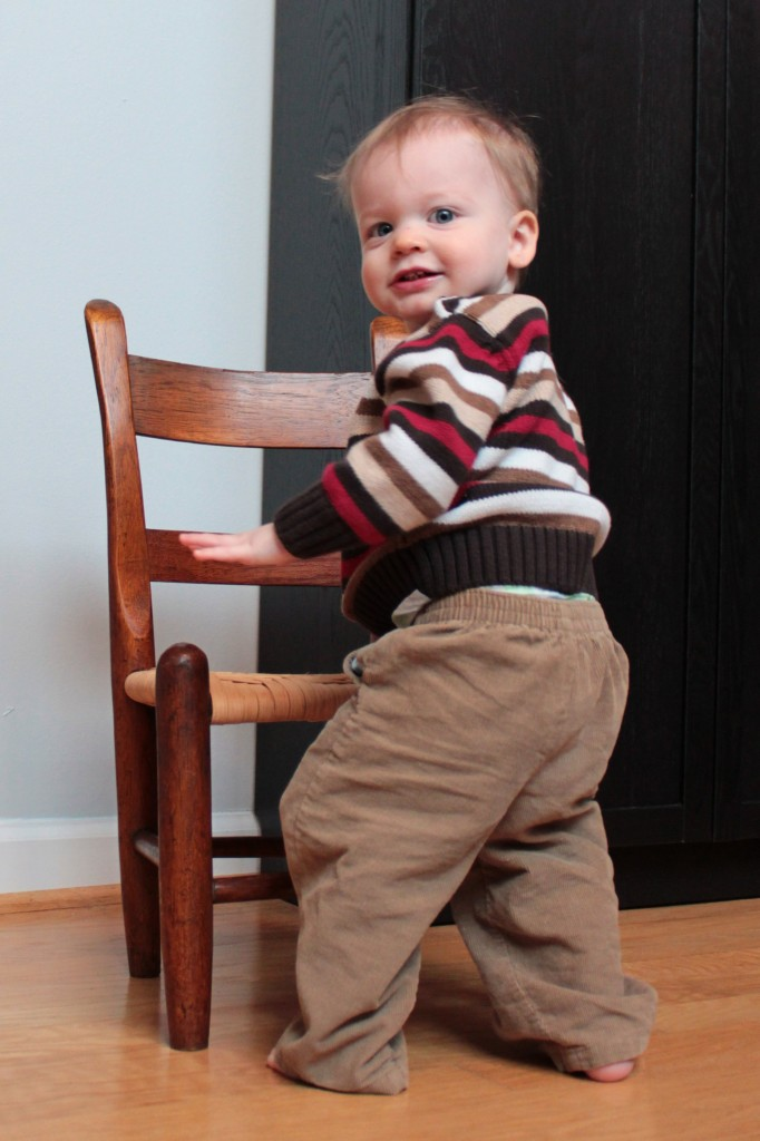 J at 14 months with his grandfather's chair